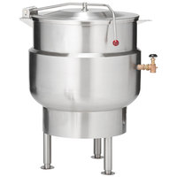 Vulcan K40DL Direct Steam 40 Gallon Stationary 2/3 Steam Jacketed Kettle