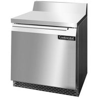 Continental Refrigerator SW32-BS-FB 32 inch Front-Breathing Worktop Refrigerator - 9 cu. ft.