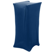 Marko EMB5026LTRC062 Embrace Cadet Blue Spandex Tray Stand Cover - Over 30 inch