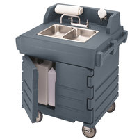 Cambro KSC402191 Granite Gray CamKiosk Portable Self-Contained Hand Sink Cart - 110V