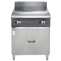 Vulcan V224HB-LP V Series Liquid Propane Heavy-Duty Range with 24 inch Hot Top and Cabinet Base - 60,000 BTU
