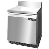 Continental Refrigerator SW27-BS-FB 27 inch Front-Breathing Worktop Refrigerator - 7.4 cu. ft.