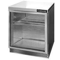 Continental Refrigerator SW27-GD-FB 27 inch Front Breathing Undercounter Refrigerator with Glass Door - 7.4 Cu. Ft.
