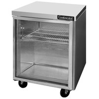 Continental Refrigerator SW27-GD 27 inch Undercounter Refrigerator with Glass Door