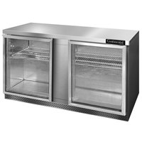 Continental Refrigerator SW60-GD-FB 60 inch Front Breathing Undercounter Refrigerator with Glass Doors - 17 Cu. Ft.
