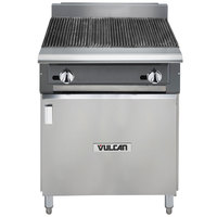 Vulcan VCBB24B-NAT V Series Natural Gas 24 inch Radiant Gas Floor Model Charbroiler with Cabinet Base - 65,000 BTU