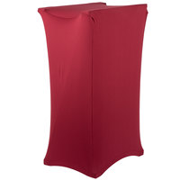 Marko EMB5026TRC046 Embrace Burgundy Spandex Tray Stand Cover - 30 inch