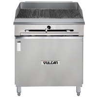 Vulcan VTC24B-NAT Natural Gas 24 inch Gas Floor Model Infrared Charbroiler with Cabinet Base - 44,000 BTU