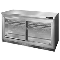 Continental Refrigerator SW60-SGD-FB 60 inch Front Breathing Undercounter Refrigerator with Sliding Glass Doors - 17 Cu. Ft.