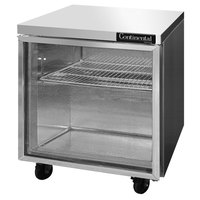 Continental Refrigerator SW32-GD 32 inch Undercounter Refrigerator with Glass Door