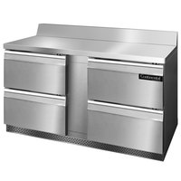 Continental Refrigerator SW60-BS-FB-D 60 inch Front-Breathing Worktop Refrigerator with Four Drawers - 17 cu. ft.