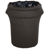 Marko EMB5026WC55512 Embrace 55 Gallon Charcoal Spandex Round Waste Container Cover