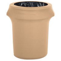 Marko EMB5026WC35049 Embrace 32 Gallon Sandalwood Spandex Round Waste Container Cover