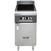 Vulcan VCBB18B-LP V Series Liquid Propane 18 inch Radiant Gas Floor Model Charbroiler with Cabinet Base - 49,000 BTU
