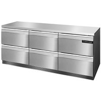 Continental Refrigerator SW72-FB-D 72 inch Front Breathing Undercounter Refrigerator with Six Drawers