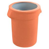 Marko EMB5026WC55030 Embrace 55 Gallon Peach Spandex Round Waste Container Cover