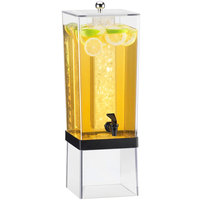 Cal-Mil 2016-13 Black 3 Gallon Econo Beverage Dispenser with Ice Chamber - 8 inch x 10 inch x 24 inch