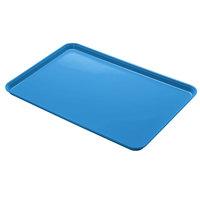 Cambro 1826MT142 18 inch x 26 inch Blue Fiberglass Market Tray   - 6/Case