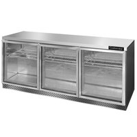 Continental Refrigerator SW72-GD-FB 72 inch Front Breathing Undercounter Refrigerator with Glass Doors - 20.6 Cu. Ft.