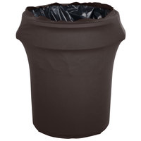 Marko EMB5026WC55633 Embrace 55 Gallon Dark Lava Spandex Round Waste Container Cover