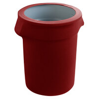 Marko EMB5026WC35046 Embrace 32 Gallon Burgundy Spandex Round Waste Container Cover