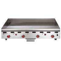 Wolf ASA48-30-LP Liquid Propane 48 inch Countertop Griddle with Snap-Action Thermostatic Controls and Extra Deep Plate - 108,000 BTU