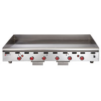 Wolf ASA72-30 -NAT Natural Gas 72 inch Countertop Griddle with Snap-Action Thermostatic Controls and Extra Deep Plate - 162,000 BTU