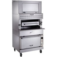 Vulcan VIR1CF-NAT Natural Gas Upright Infrared Broiler with Convection Oven Base and Finishing Oven - 132,000 BTU