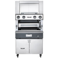 Vulcan VBB1BF-LP Liquid Propane Upright Ceramic Broiler with Cabinet Base and Finishing Oven - 100,500 BTU