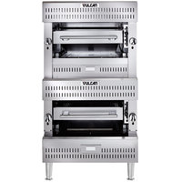 Vulcan VBI2-NAT Natural Gas Double Upright Ceramic / Infrared Broiler - 197,500 BTU