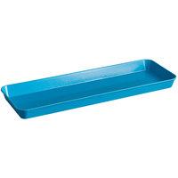 Cambro 10302MT142 10 inch x 30 inch Blue Fiberglass Market Pan - 12/Case