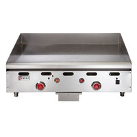 Wolf ASA24-30-LP Liquid Propane 24 inch Countertop Griddle with Snap-Action Thermostatic Controls and Extra Deep Plate - 54,000 BTU