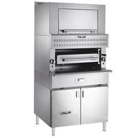 Vulcan VIR1BF-LP Liquid Propane Upright Infrared Broiler with Cabinet Base and Finishing Oven - 100,000 BTU