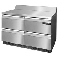 Continental Refrigerator SWF48-BS-FB-D 48 inch Front-Breathing Worktop Freezer with Four Drawers