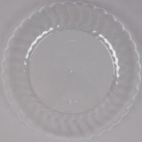 Fineline Flairware 210-CL 10 1/4 inch Clear Plastic Plate - 18/Pack