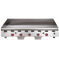 Wolf ASA60-30 -NAT Natural Gas 60 inch Countertop Griddle with Snap-Action Thermostatic Controls and Extra Deep Plate - 135,000 BTU