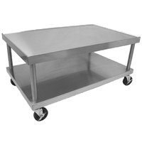 Wolf STAND/C-60 61 inch x 30 inch Stainless Steel Mobile Equipment Stand