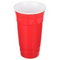 GET SC-32-R To-Go 32 oz. Customizable Red Reusable Plastic Tumbler - 24/Case