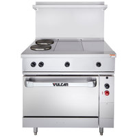 Vulcan EV36S-2FP2HT208 Endurance Series 36 inch Electric Range with 2 French Plates, 2 Hot Tops, and 1 Standard Oven - 208V