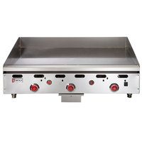 Wolf ASA36-24-LP Liquid Propane 36 inch Countertop Griddle with Snap-Action Thermostatic Controls - 81,000 BTU