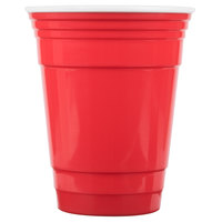GET SC-16-R To-Go 16 oz. Customizable Red Reusable Plastic Tumbler - 24/Case