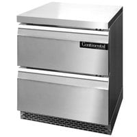 Continental Refrigerator SWF27-FB-D 27 inch Front Breathing Undercounter Freezer with Two Drawers
