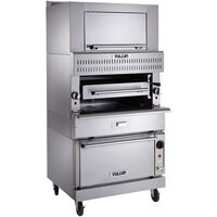 Vulcan VIR1SF-NAT Natural Gas Upright Infrared Broiler with Standard Oven Base and Finishing Oven - 150,000 BTU