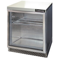 Continental Refrigerator SWF27-GD-FB 27 inch Front Breathing Undercounter Freezer with Glass Door - 7.4 Cu. Ft.