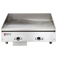 Wolf WEG24E-240/1 24 inch Electric Countertop Griddle with Thermostatic Controls - 240V, 1 Phase, 10.8 kW