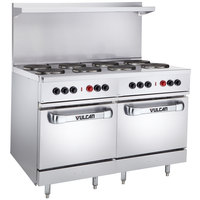 Vulcan EV48SS-8FP240 Endurance Series 48 inch Electric Range with 8 French Plates and 2 Ovens - 240V, 26 kW