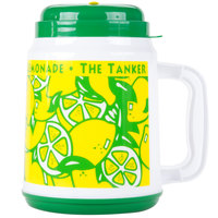 64 oz. The Tanker Lemonade Design Plastic Cold Cup with Spout, Straw and Lid - 12/Case