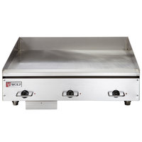Wolf WEG36E-208/3 36 inch Electric Countertop Griddle with Thermostatic Controls - 208V, 3 Phase, 16.2 kW