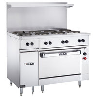 Vulcan EV48S-8FP208 Endurance Series 48 inch Electric Range with 8 French Plates and Oven Base - 208V, 21 kW