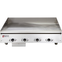 Wolf WEG48E-240/3 48 inch Electric Countertop Griddle with Thermostatic Controls - 240V, 3 Phase, 21.6 kW